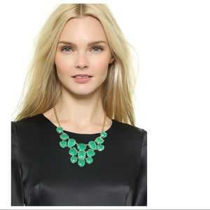 Kate Spade Green Emerald Jewels Statement Necklace